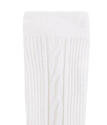 Girls' Warm Tights Marshmallow white
