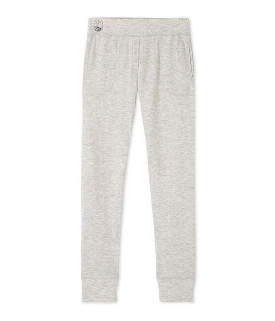 Women's leggings in an extra-fine tube knit Beluga Chine grey