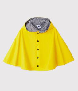 Unisex rain cape for babies Jaune yellow