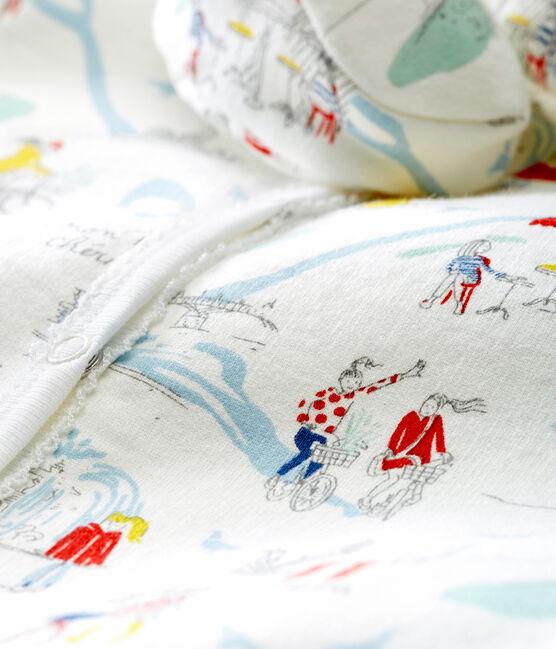 Baby girl's pyjama and booties set Marshmallow white / Multico white