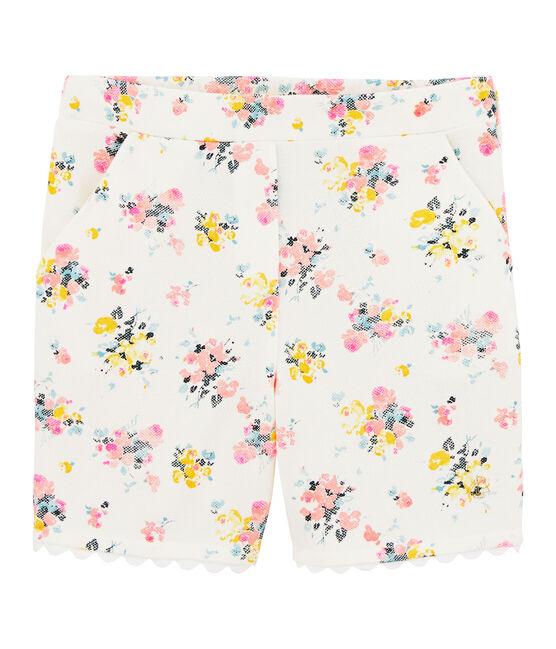Girls' Bermuda Shorts Marshmallow white / Multico white
