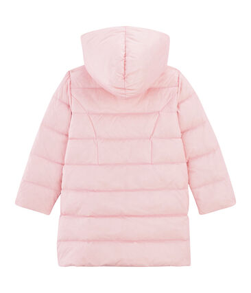 Girls' Feather and Down Coat Fleur Cn pink