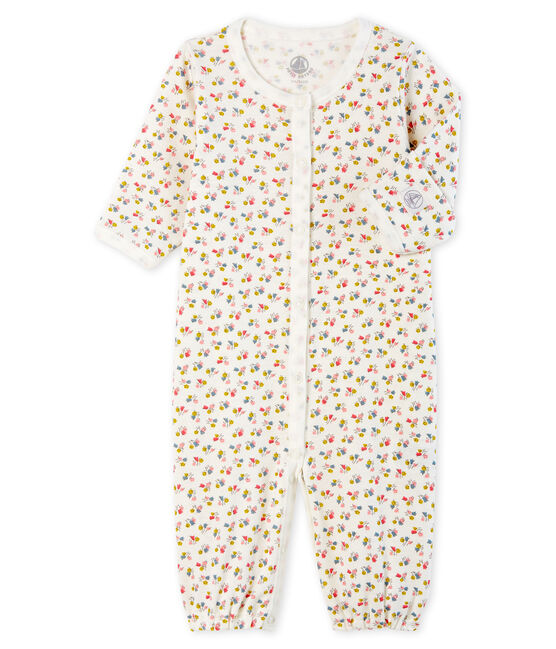 Babies' Ribbed Jumpsuit/Sleeping Bag Marshmallow white / Multico white