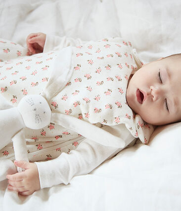 Babies' Velour Sleeping Bag Marshmallow white / Multico white