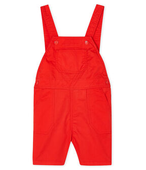 Baby Boys' Short Dungarees Spicy orange
