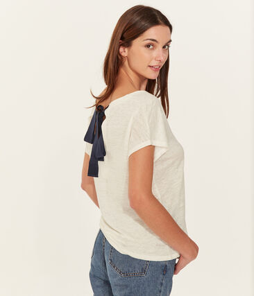 Women's Linen T-Shirt Marshmallow white