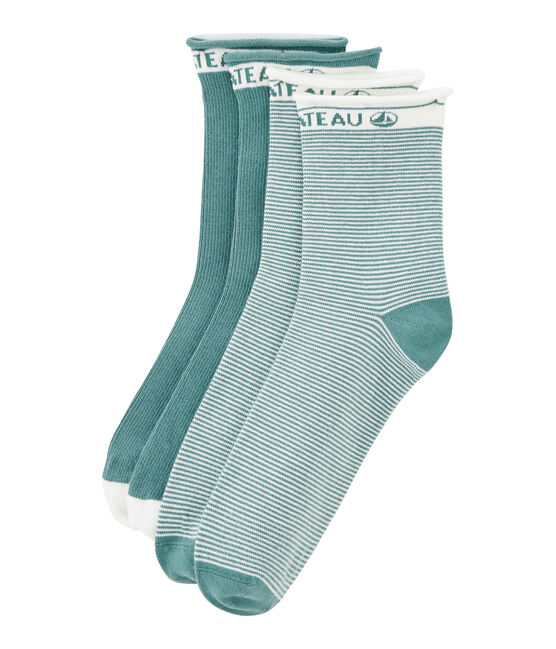 Set of 2 pairs of women's socks Brut blue
