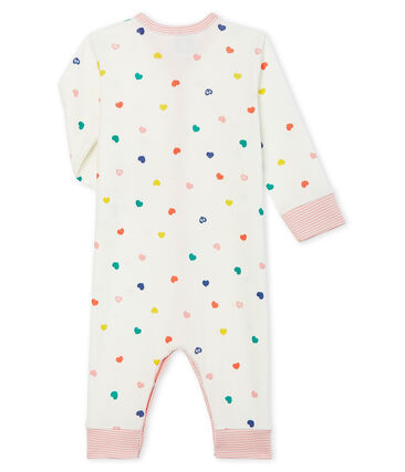 Baby Girls' Footless Ribbed Sleepsuit Marshmallow white / Multico Cn white