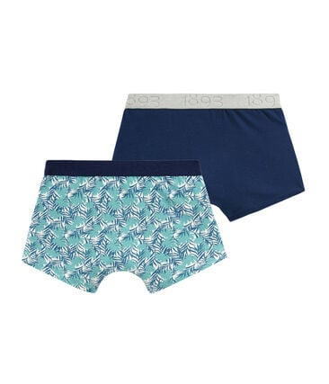 Boys' Stretch Cotton Boxer Shorts - Set of 2