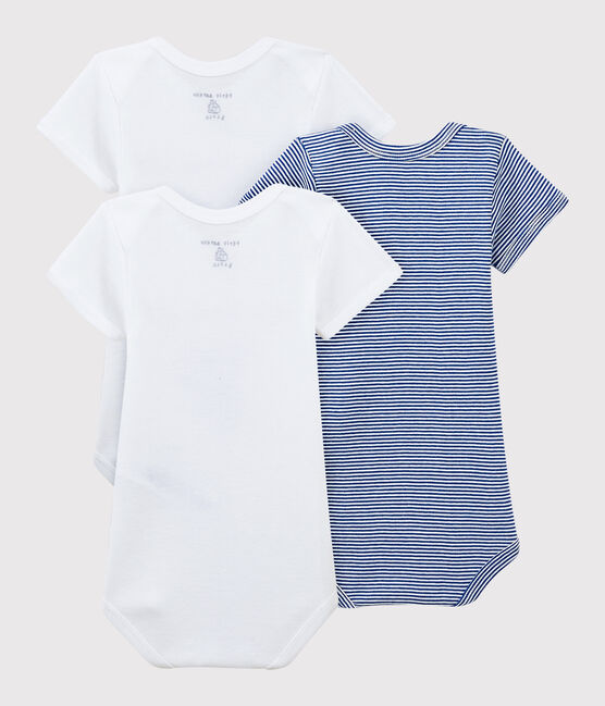 Babies' Serge Bloch Short-Sleeved Bodysuit - 3-Piece Set . set