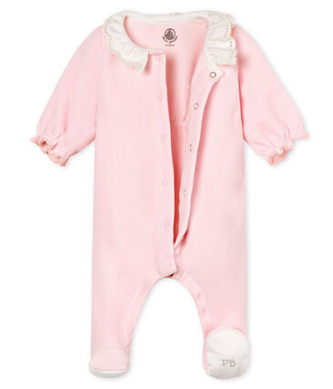Baby girls' sleepsuit in cotton velour