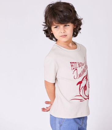 Boys' T-shirt with motif Feta white