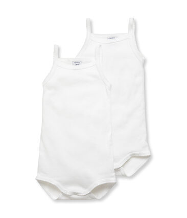 Baby Girls' Bodysuits with Straps - 2-Piece Set