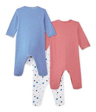 Set of three baby boy's sleepsuits