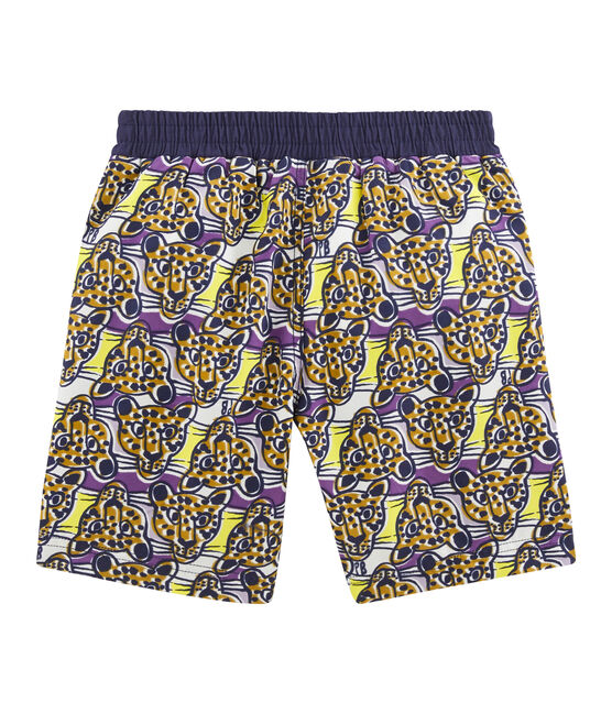 Boys' Print Beach Shorts Marshmallow white / Multico white