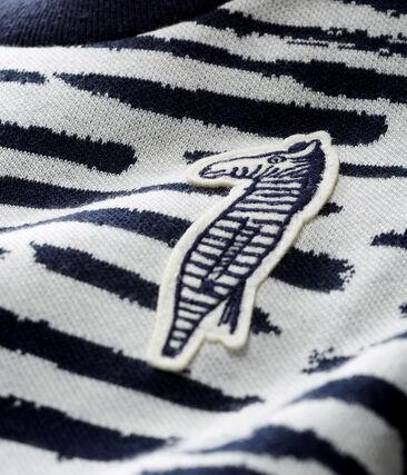 Unisex Babies' Sweatshirt by Jean Jullien MARSHMALLOW/DASH