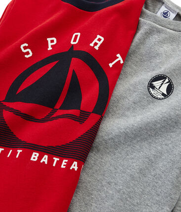 Boys' Plain and Screen Printed T-Shirts - 2-Piece Set . set