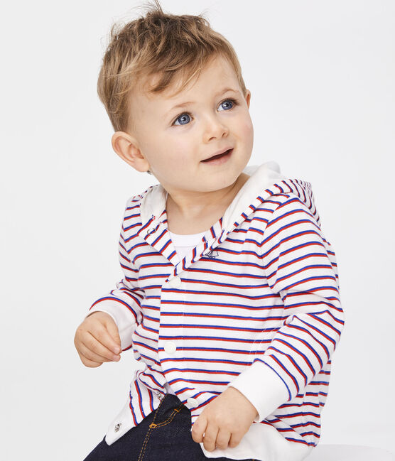 Baby Boys' Striped Hoody Marshmallow white / Multico white