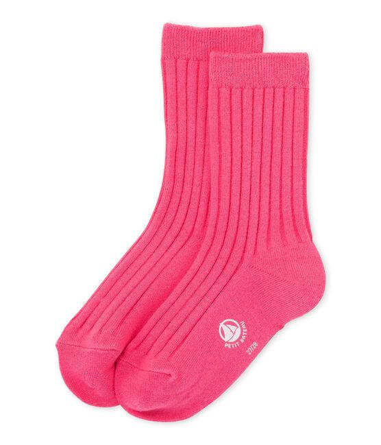 Plain socks Peony pink