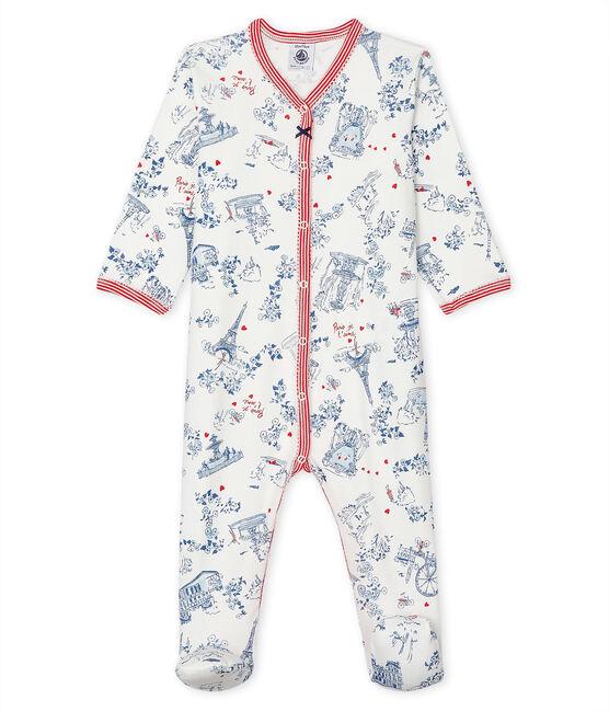 Babies' Ribbed Sleepsuit Marshmallow white / Multico white