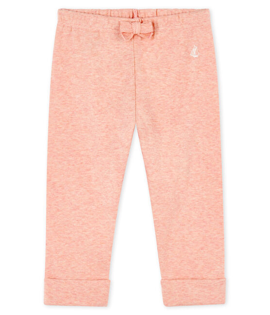 Baby boys' knit trousers Aster Chine pink