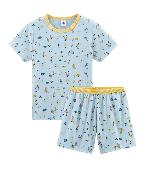 Boys' short Pyjamas Toudou blue / Multico white