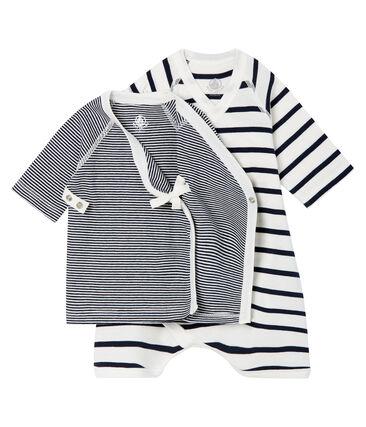 Baby Kimono Bodysuit and Undershirt Set in Rib Knit