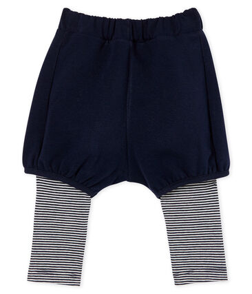 Baby Girls' Leggings with Shorts Smoking blue / Marshmallow white
