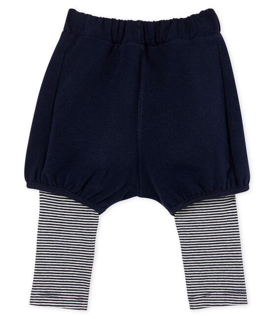 Baby Girls' Leggings with Shorts Smoking blue / Marshmallow white