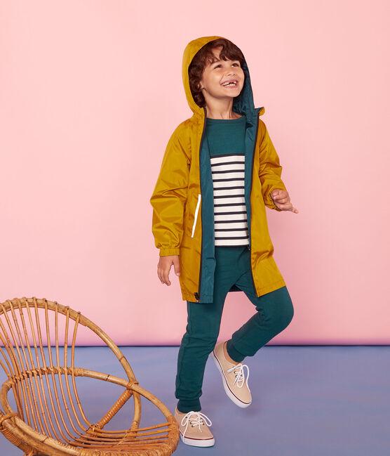 Unisex Children's Warm Reversible Windbreaker Bamboo yellow / Pinede green