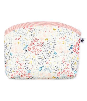 Rib Knit Clutch Bag Marshmallow white / Minois pink