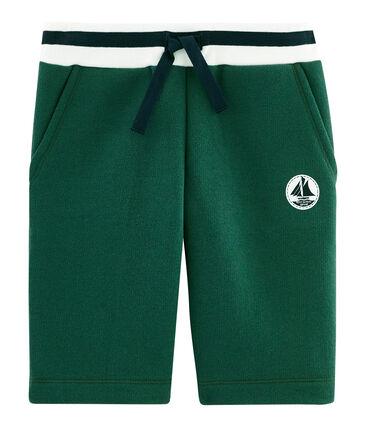 Boys' Fleece Bermuda Shorts Sousbois green