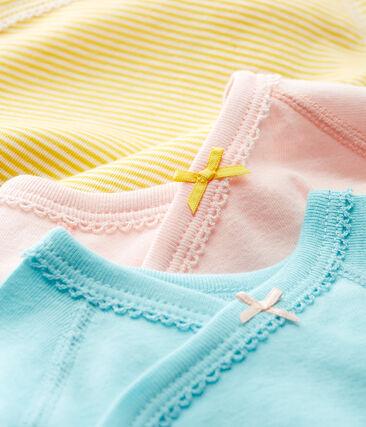 Baby Girls' Short-Sleeved Newborn Bodysuit - Set of 3