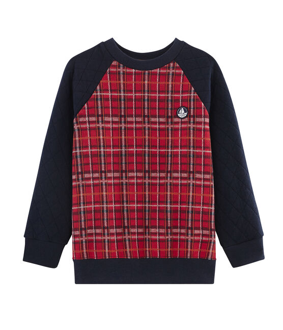 Boy's Sweatshirt Terkuit red / Smoking blue