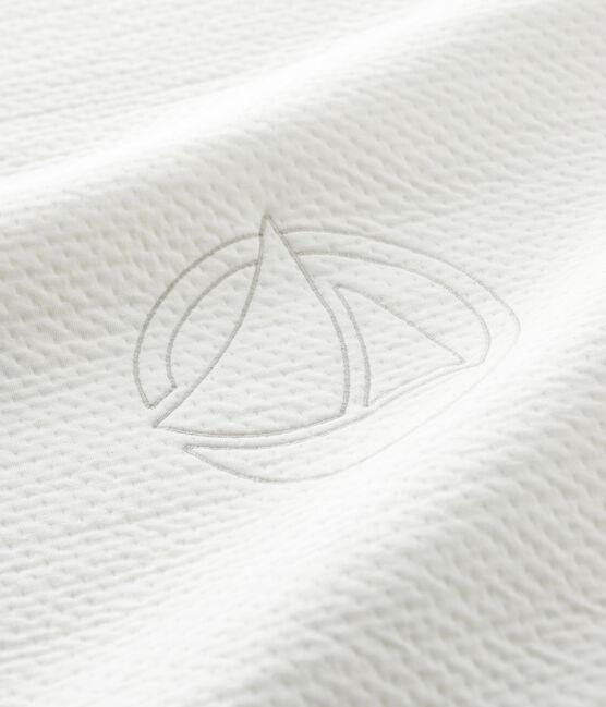 Babies' Organic Cotton Tube Knit Blanket Marshmallow white