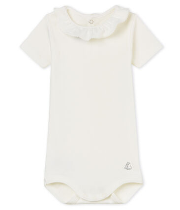 Baby girls' bodysuit with ruff