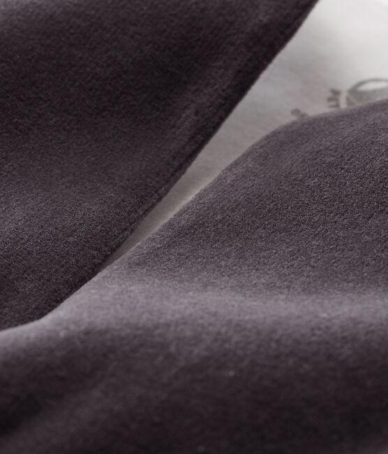 Babies' Sleeveless Velour Cardigan Capecod grey
