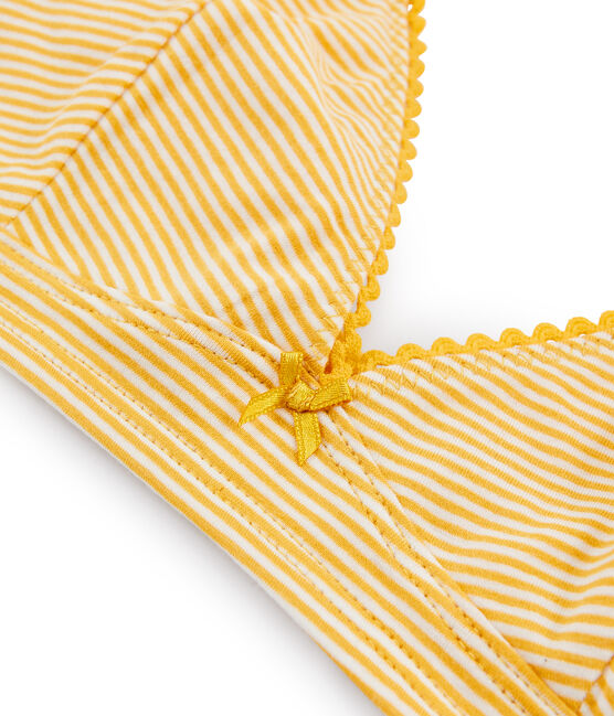 Women's Triangle Bra Boudor yellow / Marshmallow white