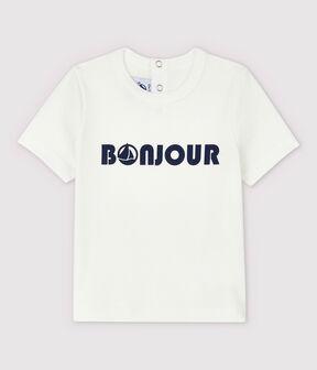 Babies' Cotton T-Shirt. Marshmallow white