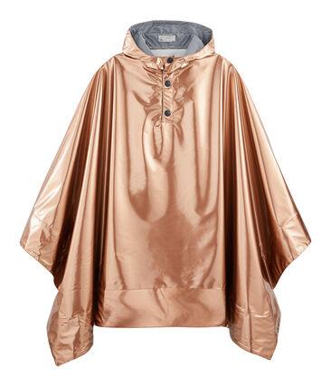 Women's reversible raincoat Copper pink