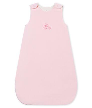 Baby girl's plain velour sleeping bag
