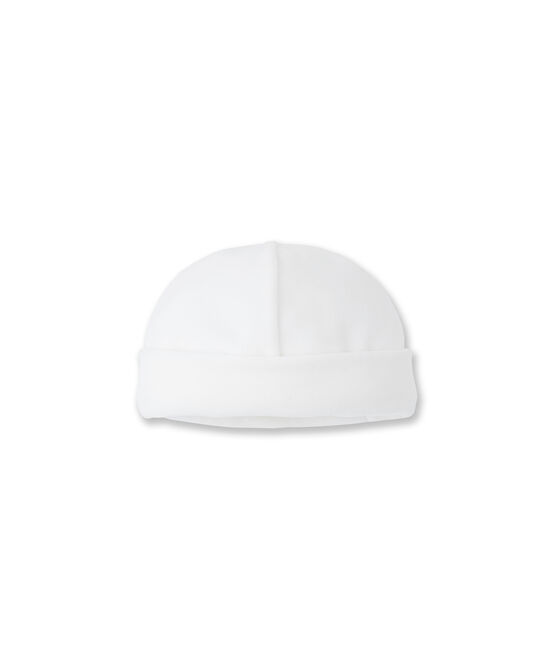 Newborn hat Ecume white