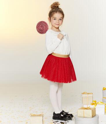Girls' Blouse Marshmallow white