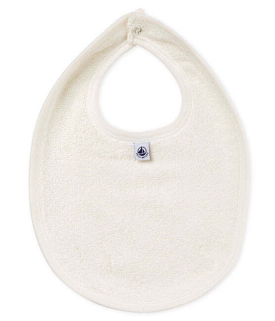 Baby girls' printed bib Vienne pink / Multico white