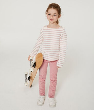 Girls' Slim-Fit Velour Trousers
