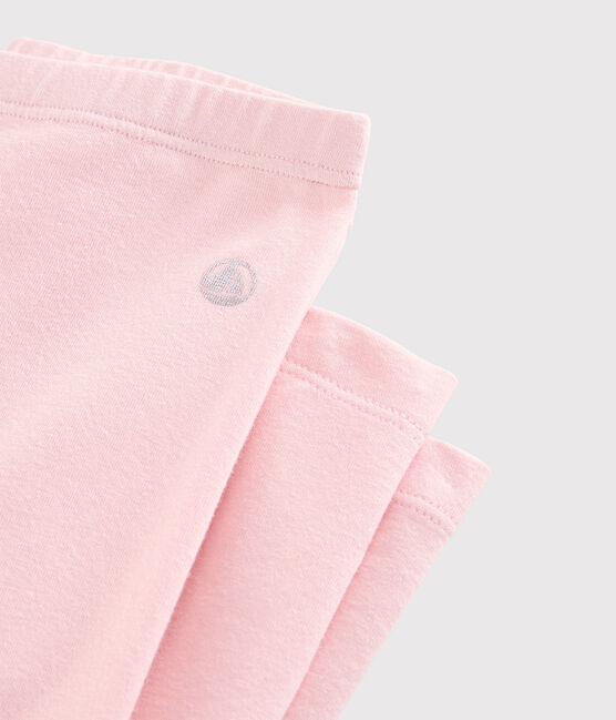 Girls' Jersey Leggings Minois pink