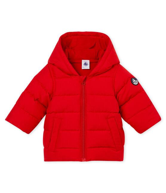 Baby boy's padded microfibre jacket Terkuit red