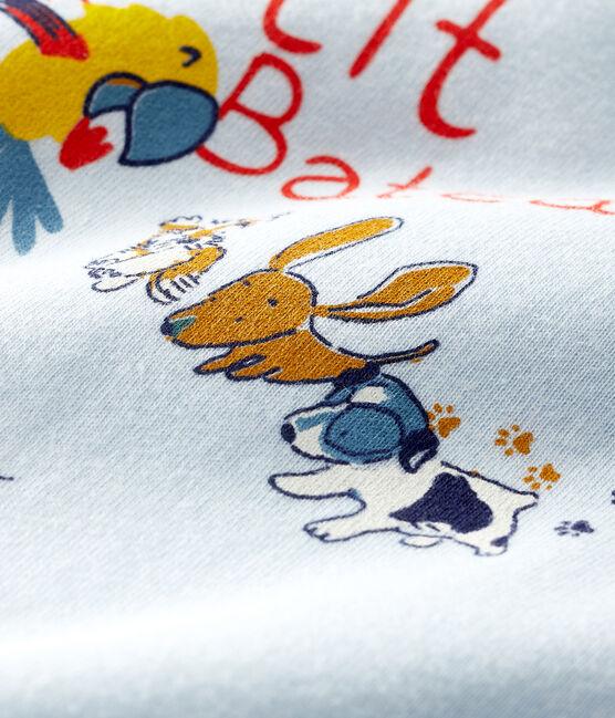 Short-sleeved T-shirt for baby boys Fraicheur blue