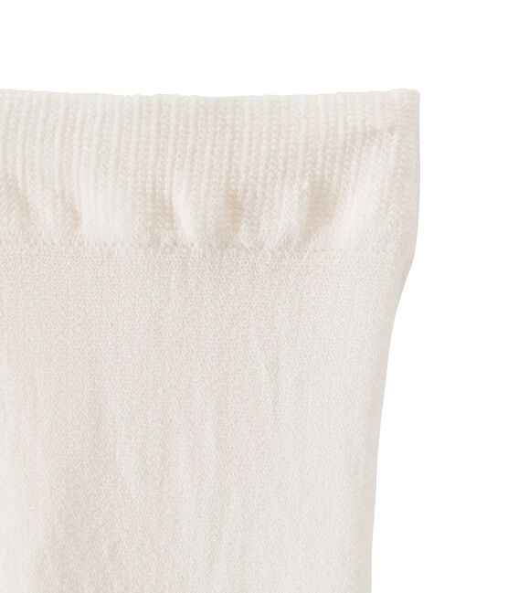 Microfibre tights for girls Coquille beige