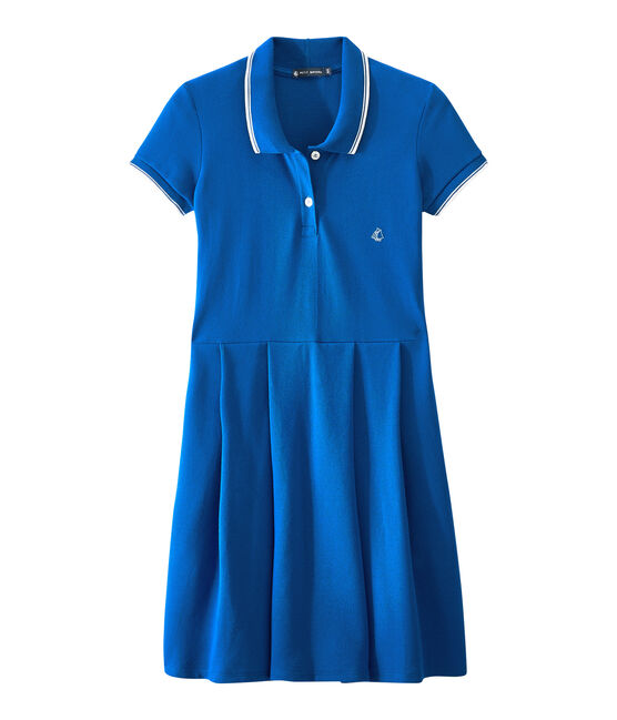 Dress inspired by the polo Perse blue